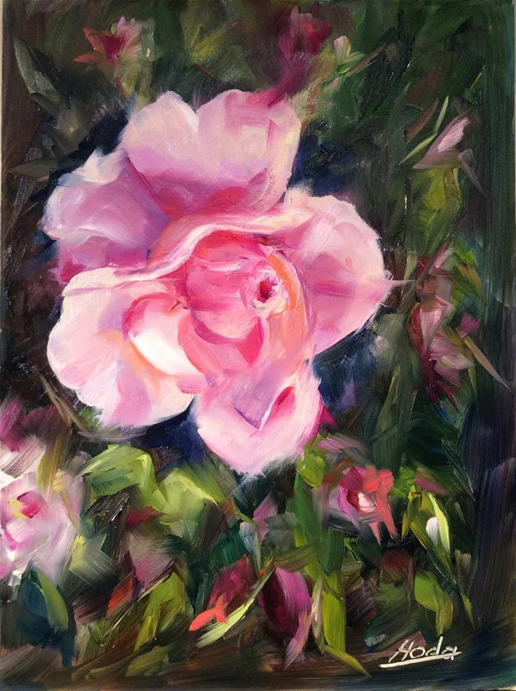 """Rosy"" original fine art by Hoda Nicholas"