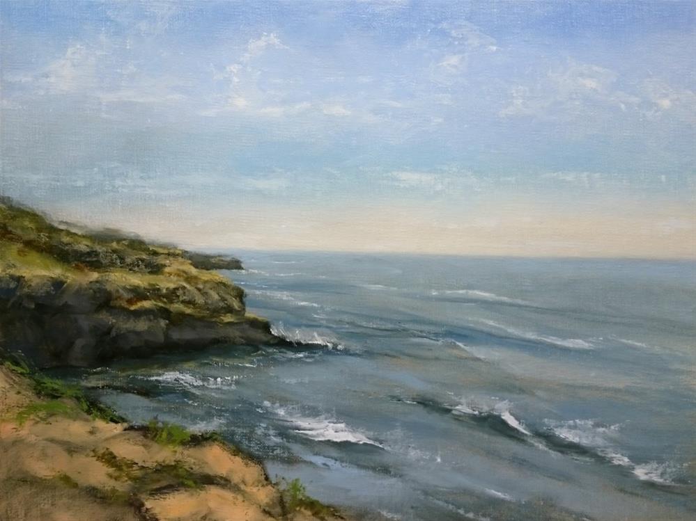 """""""Sunset Cliffs  Park Looking South"""" original fine art by Dalan Wells"""
