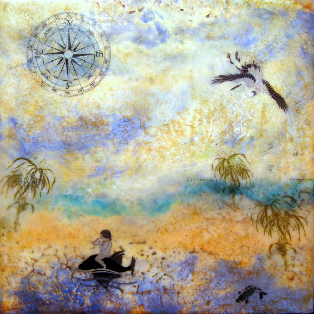 """""""Going West"""" original fine art by Danielle M. Le  Bris"""