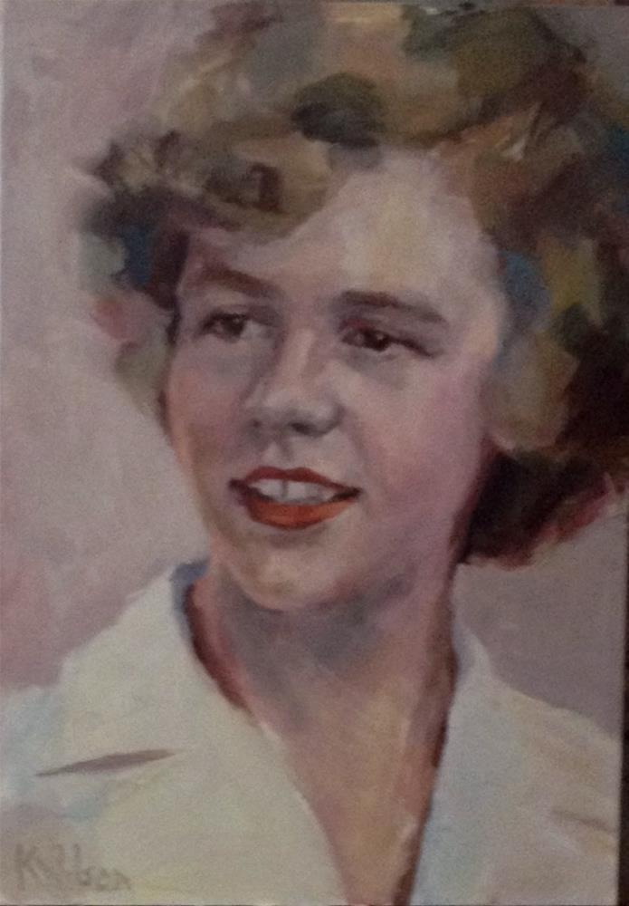 """White Shirt - Commission"" original fine art by Katie Wilson"