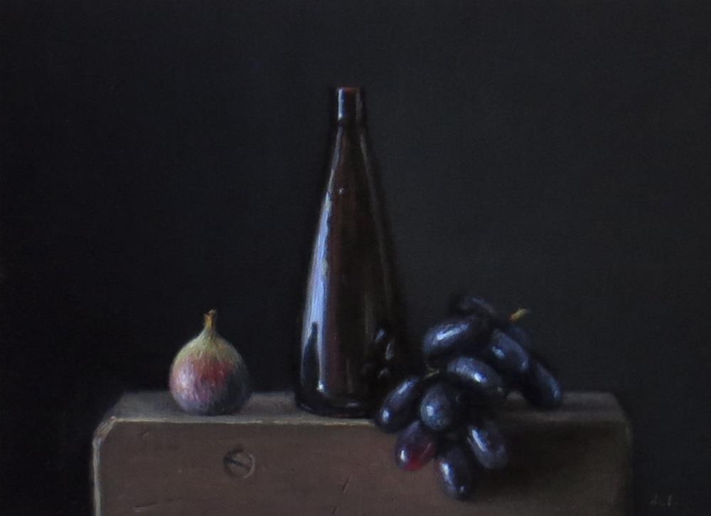 """""""Temple Bottle with Grapes and Fig"""" original fine art by Darla McDowell"""