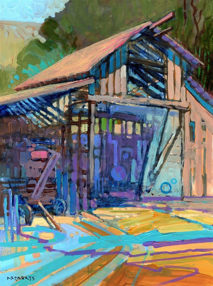 """""""Reinstein Ranch"""" original fine art by Nancy Roberts"""