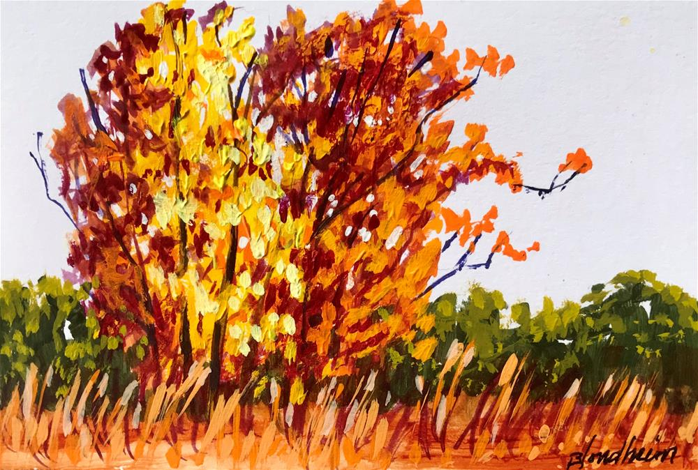 """Fall Field"" original fine art by Linda Blondheim"
