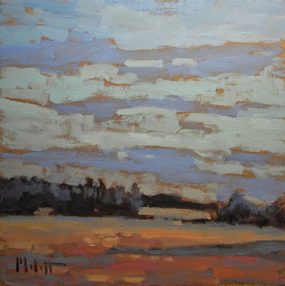 """Light of the Full Moon Contemporary Impressionism"" original fine art by Heidi Malott"