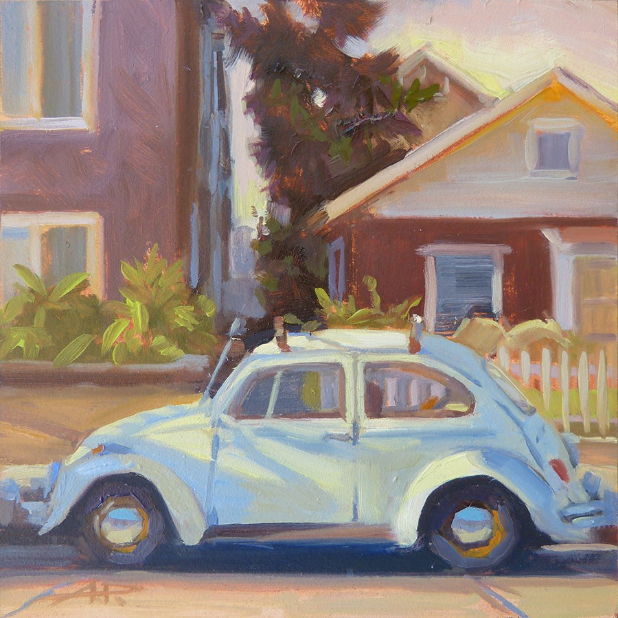 """""""30 in 30 - Cars and Dogs - Day 2"""" original fine art by Anette Power"""