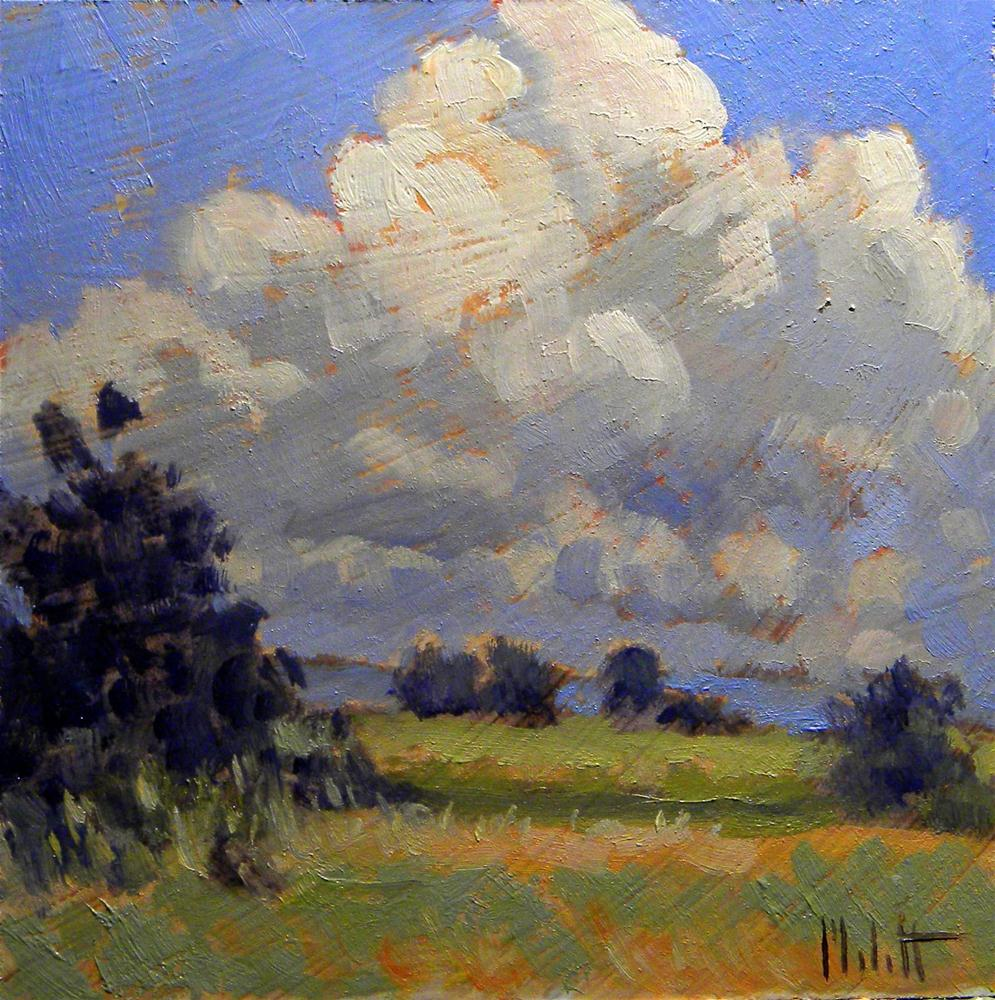 """Impressionist Clouds Summer Fall Landscape Daily Oil Painting Heidi Malott"" original fine art by Heidi Malott"