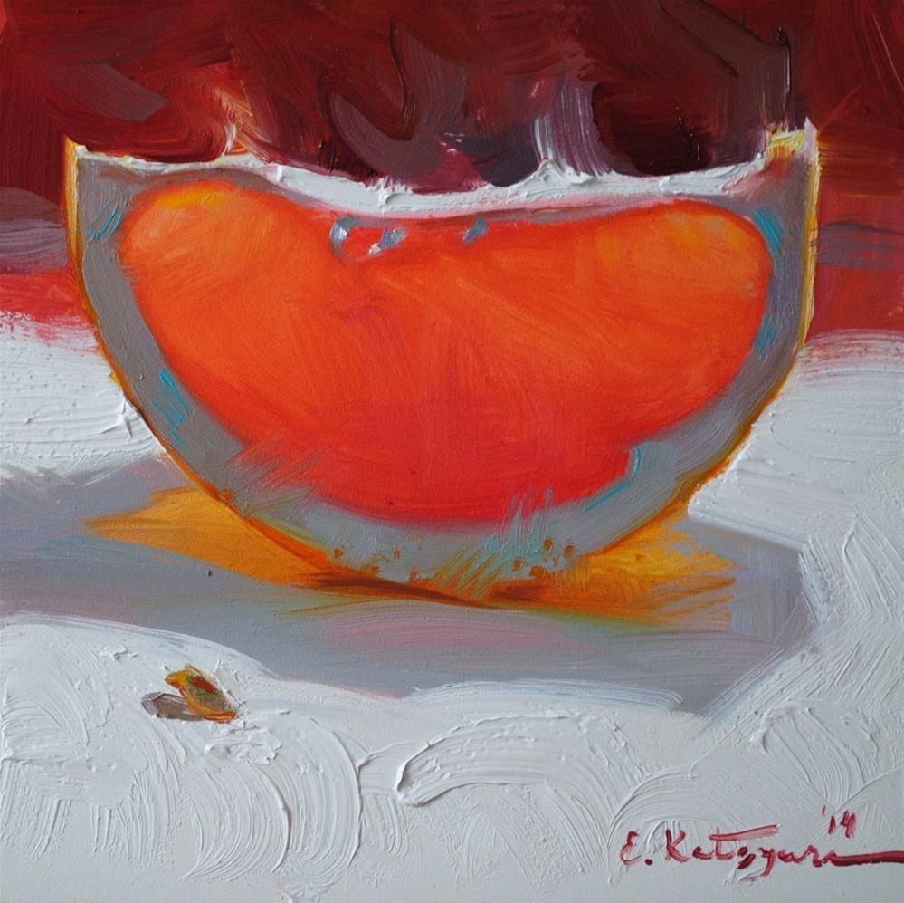 """Sunset Fruit"" original fine art by Elena Katsyura"