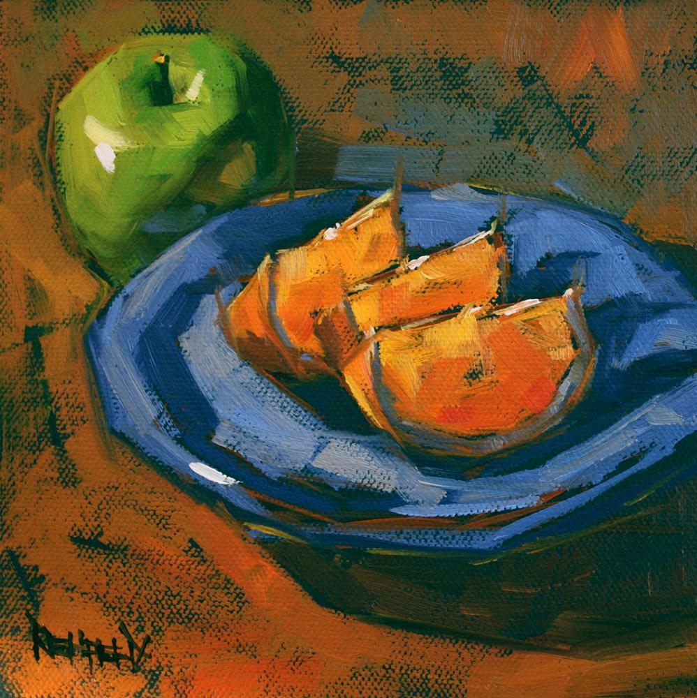 """Apple and Oranges"" original fine art by Cathleen Rehfeld"