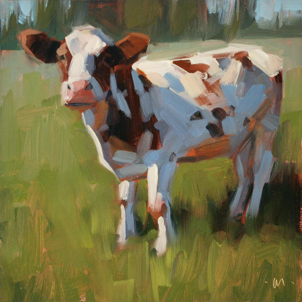 """""""Moo"""" original fine art by Carol Marine"""