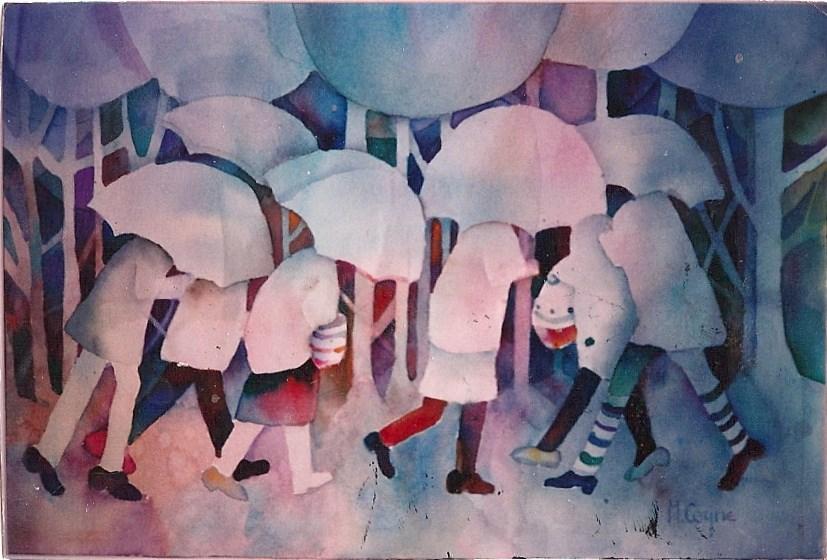 """drizzle"" original fine art by meribeth coyne"