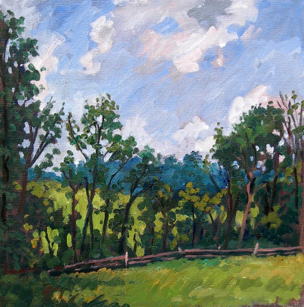 """""""Summer Trees, Backlight"""" original fine art by Thor Wickstrom"""