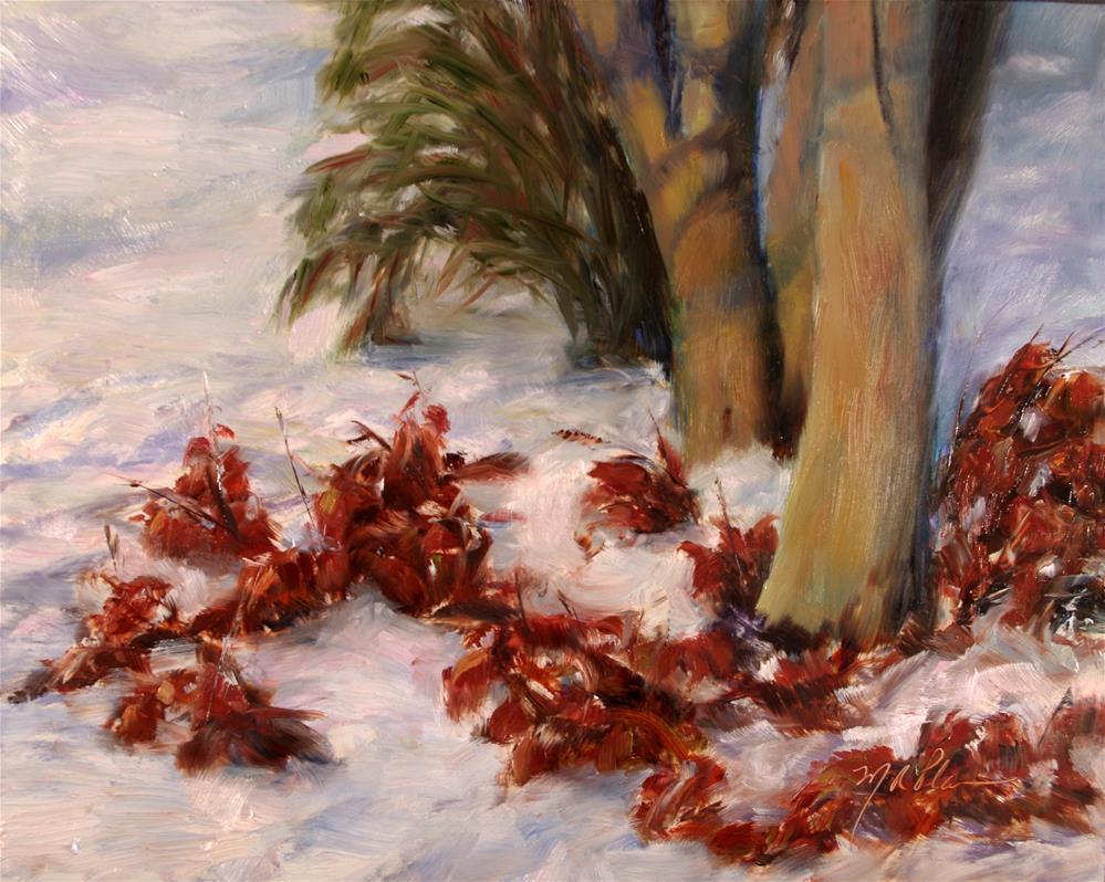 """""""Winter Leaves II"""" original fine art by Marilyn R. Place"""