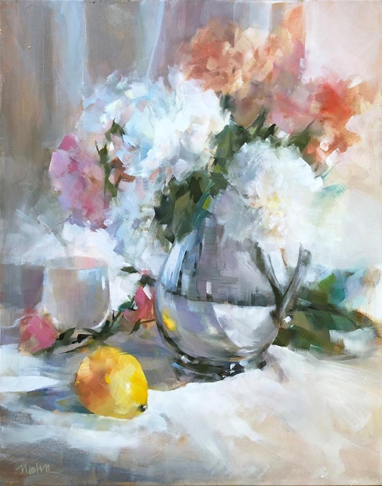 """Lemon"" original fine art by Barbara Benedetti Newton"
