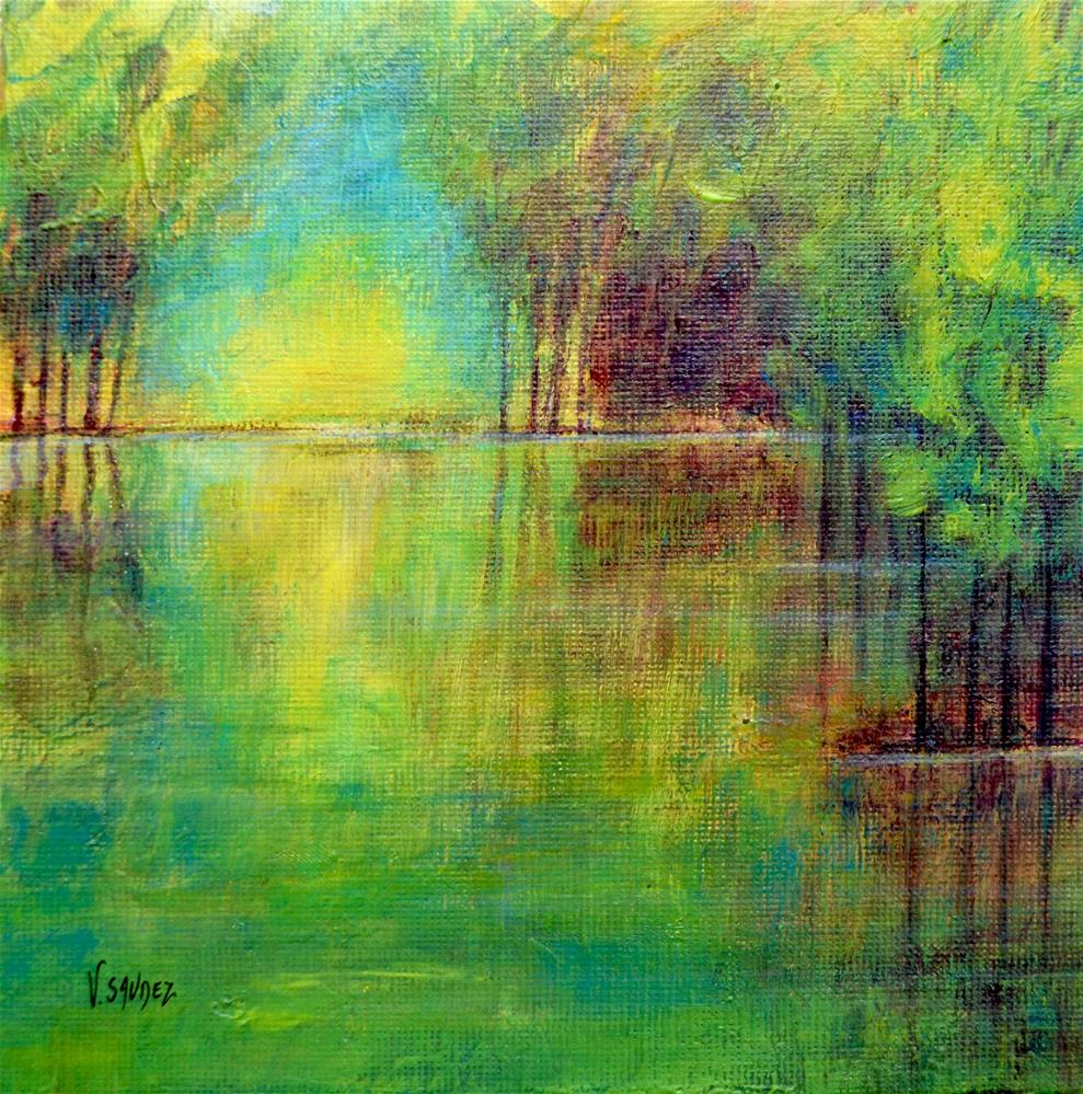 """Morning gleams"" original fine art by Véronique Saudez"