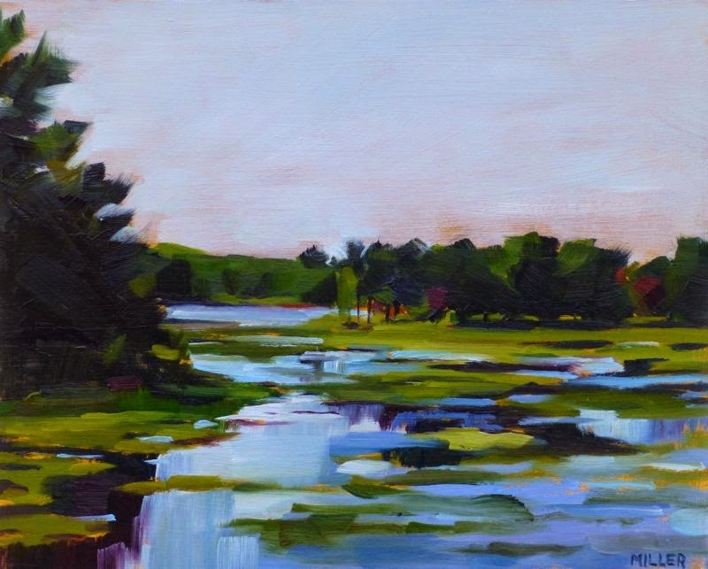 """Marsh on the Back Way to Big Rapids"" original fine art by Jessica Miller"