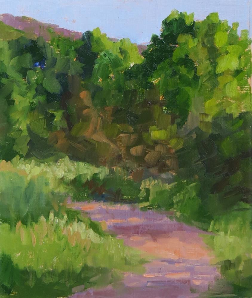"""Morning Path"" original fine art by Pam Holnback"