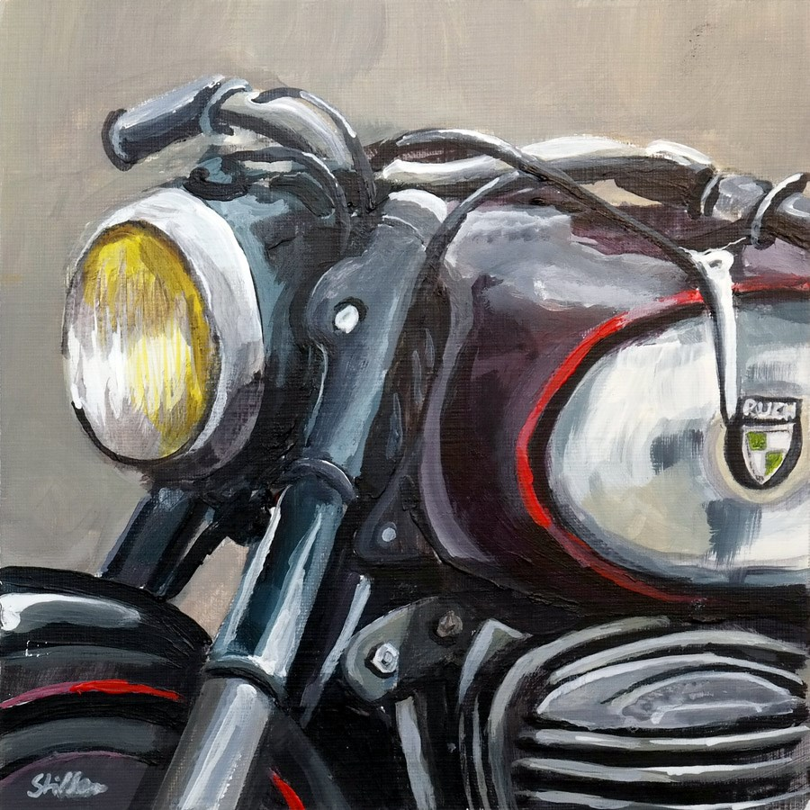 """1900 Puch"" original fine art by Dietmar Stiller"