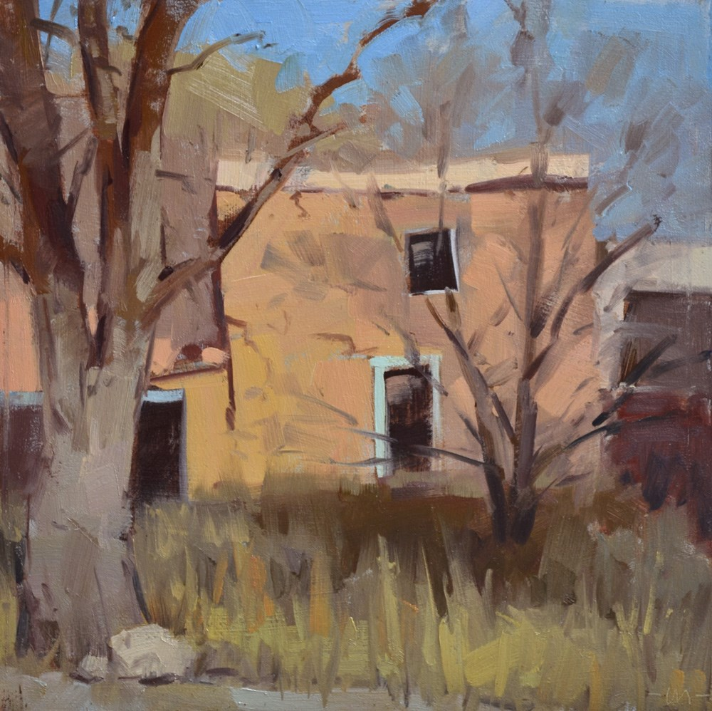 """Old Taos"" original fine art by Carol Marine"