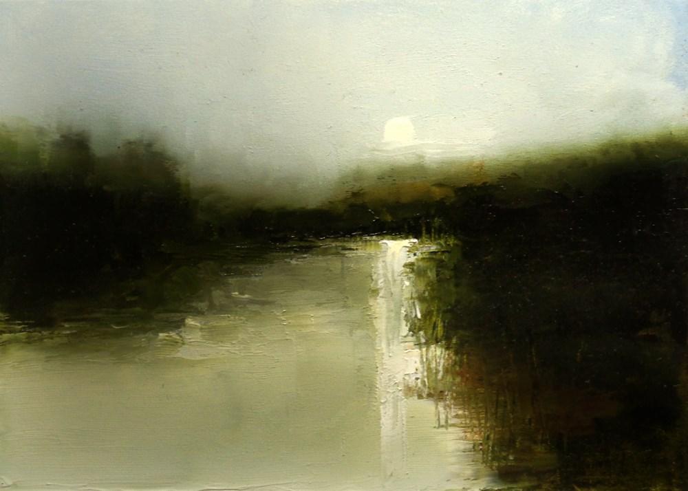 """Glowing River"" original fine art by Bob Kimball"