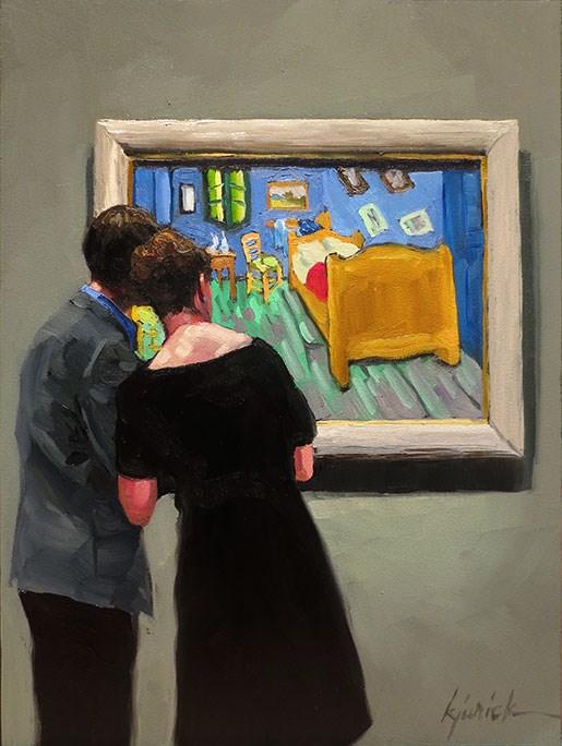 """A Peek In The Bedroom"" original fine art by Karin Jurick"