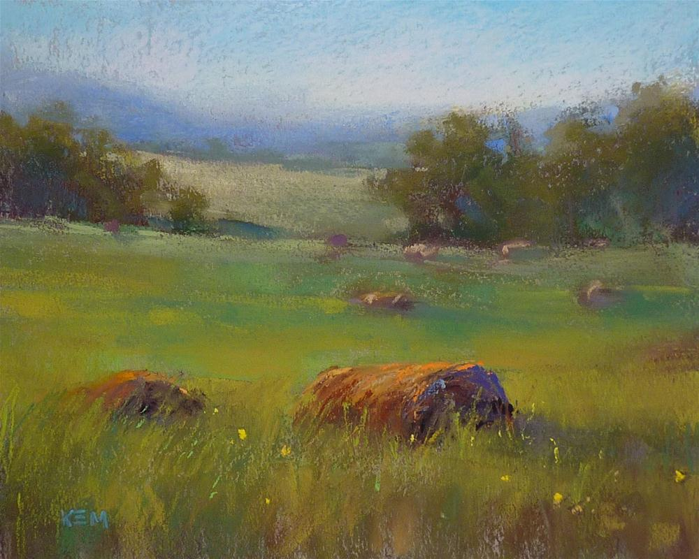 """My Tip for Painting Summer Greens"" original fine art by Karen Margulis"