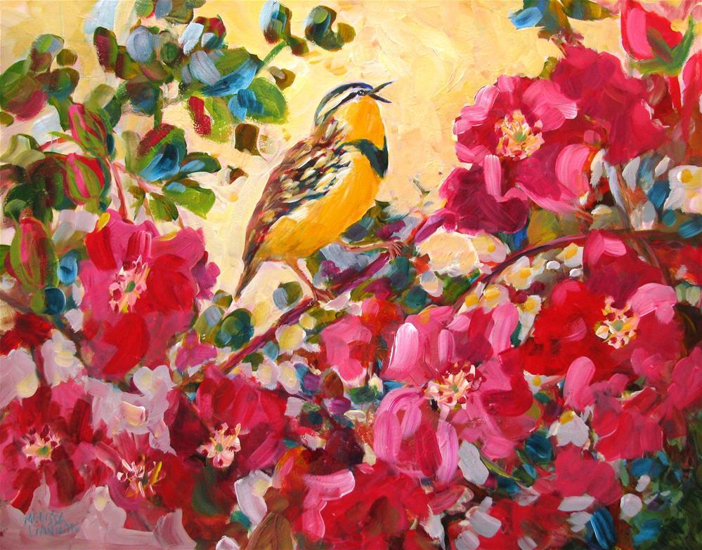"""Singing in the Roses"" original fine art by Melissa Gannon"