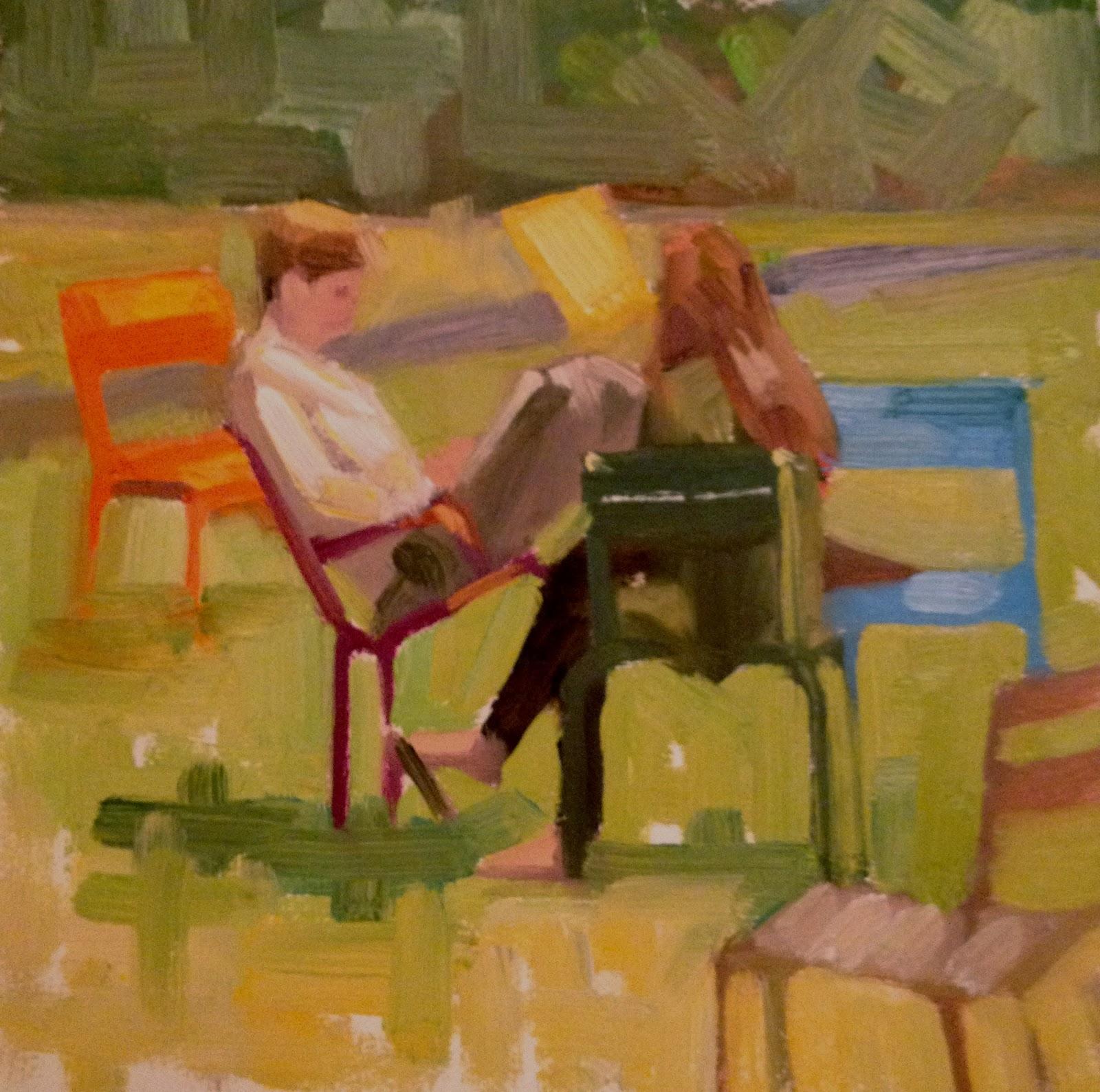 """Harvard Yard, 6x6"" original fine art by Ann Feldman"