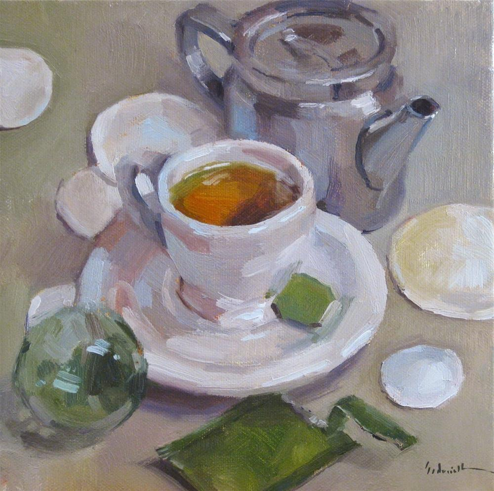 """Tea by the Sea"" original fine art by Sarah Sedwick"