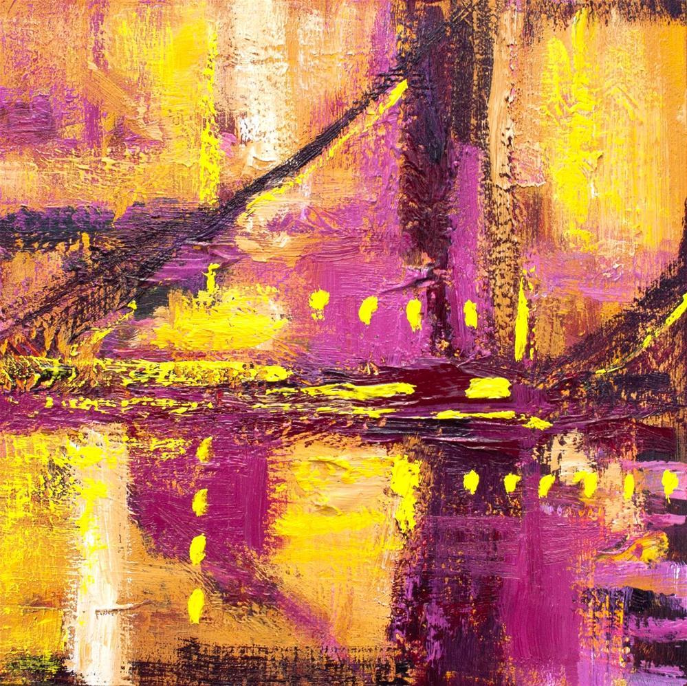 """Sunset Bridge"" original fine art by Cynthia Mahlberg"