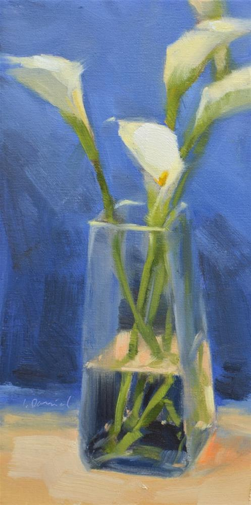 """Calla Lily Bouquet - Twenty of 30 in 30"" original fine art by Laurel Daniel"