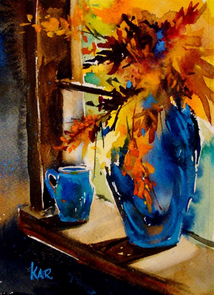 """""""On the Sill"""" original fine art by Kathy Los-Rathburn"""