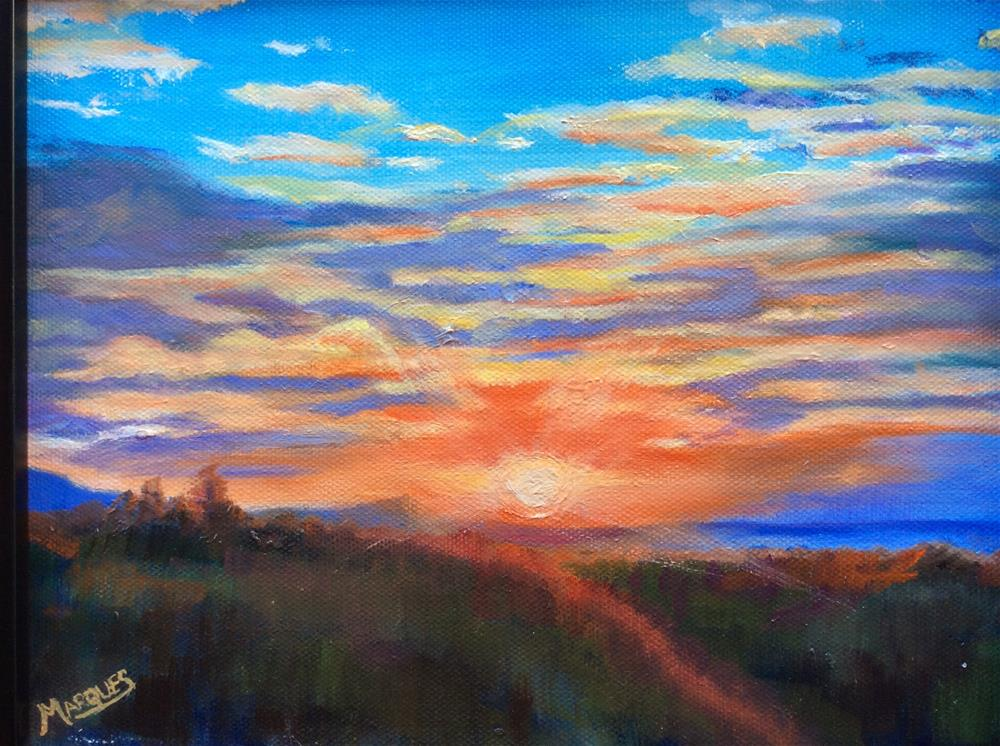 """""""Sunset"""" original fine art by Kathy Marques"""