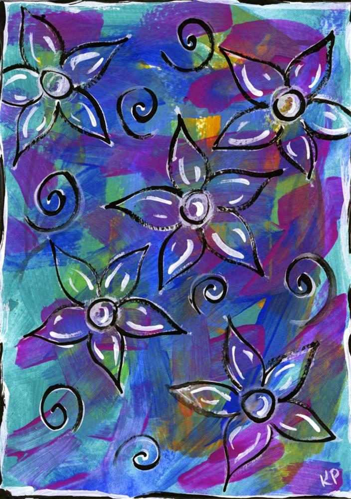 """Something New...Something Blue"" original fine art by Kali Parsons"