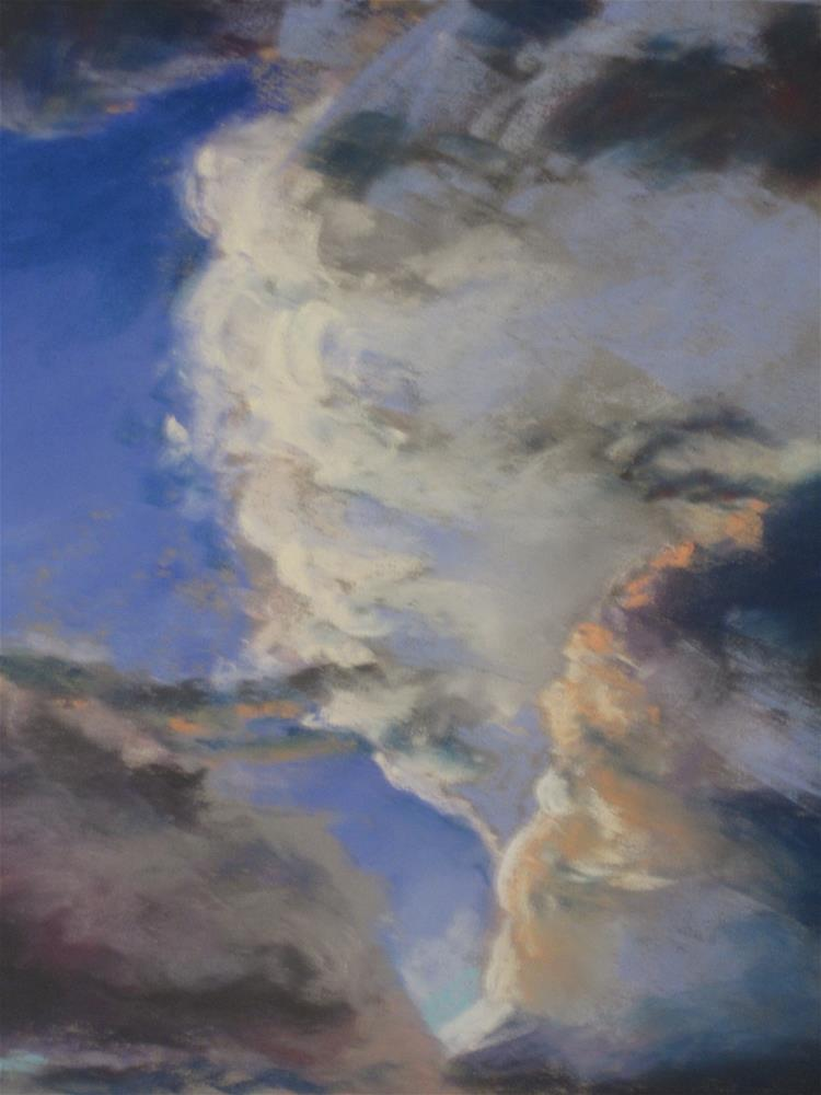 """Clouds #2"" original fine art by Toby Reid"