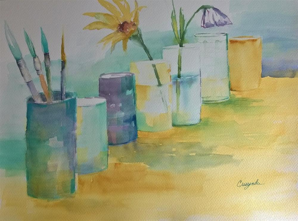 """""""Water and Things"""" original fine art by Crisynda Buss"""