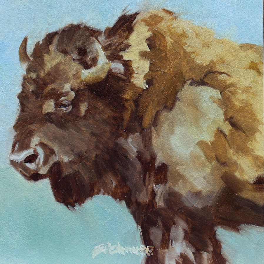"""""""Don't forget I've got Horns"""" original fine art by Susan Ashmore"""