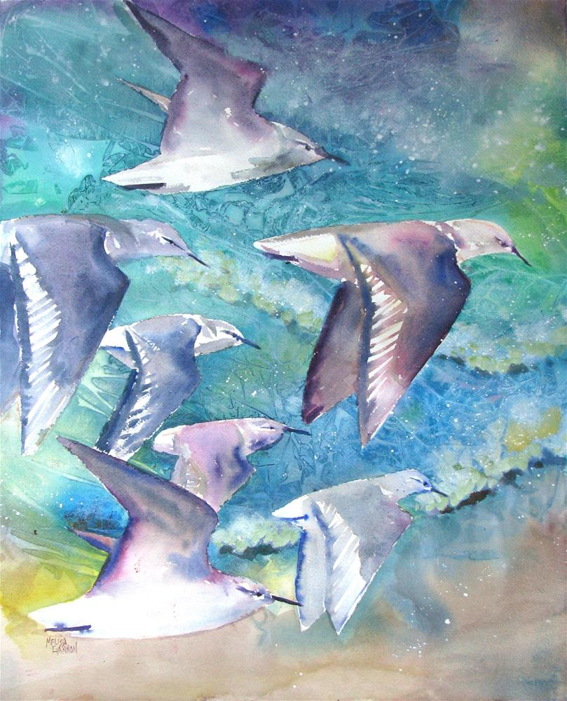 """Above the Ocean"" original fine art by Melissa Gannon"