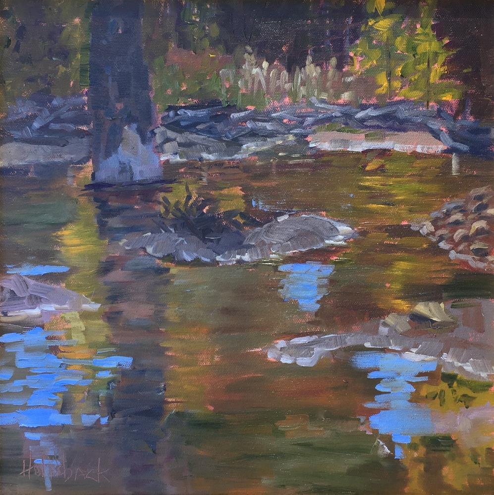 """Mountain Pond"" original fine art by Pam Holnback"