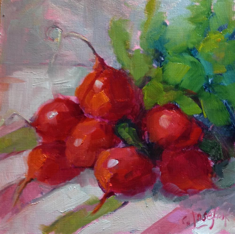 """Red is for Radish"" original fine art by Carol Josefiak"