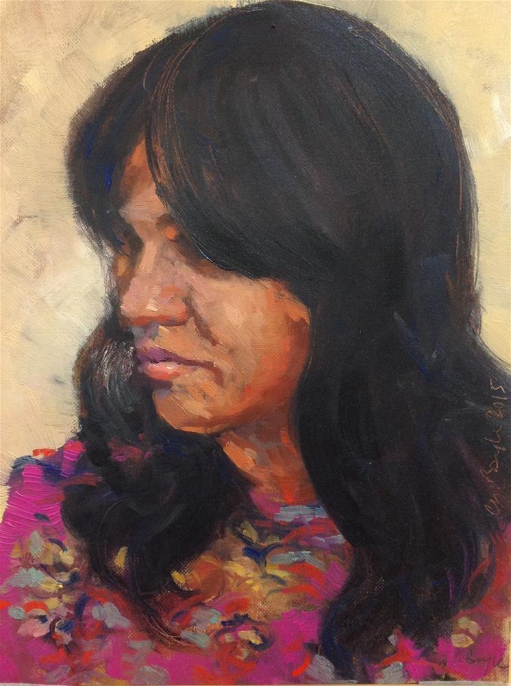 """Samia"" original fine art by Christine Bayle"