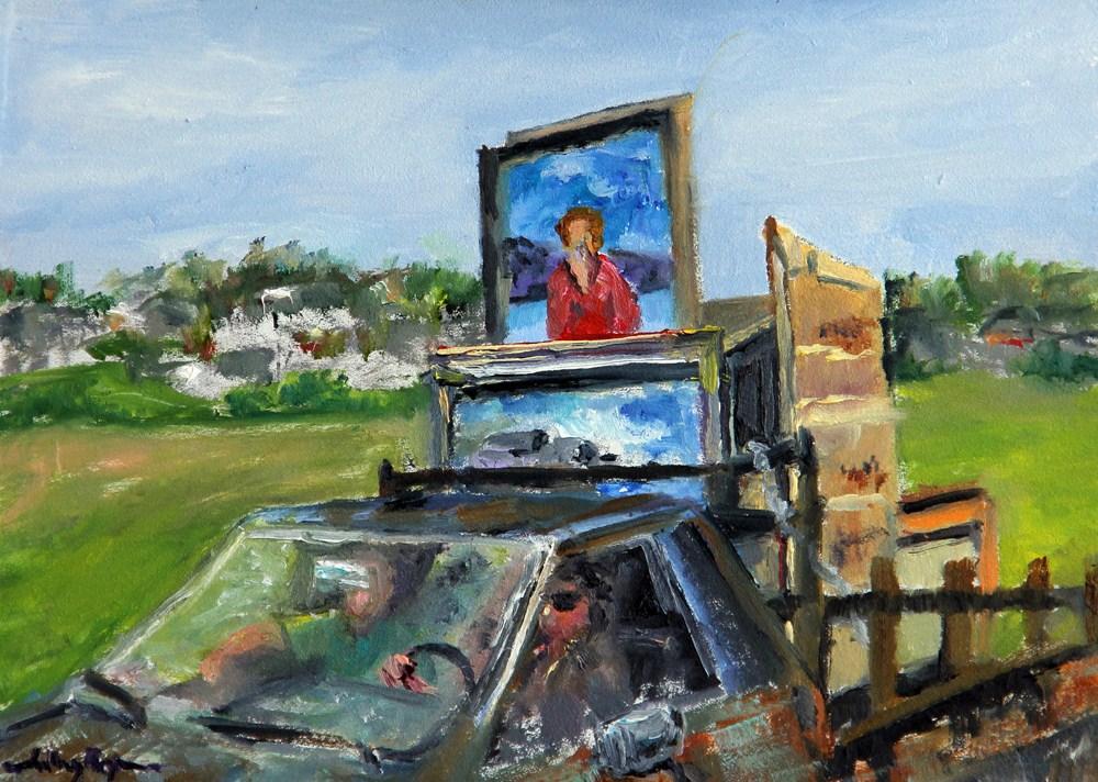"""Switching the Museum Paintings, Island Style"" original fine art by Shelley Koopmann"