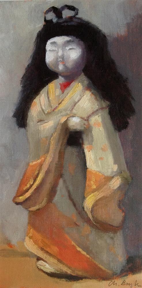 """""""Kimekomi"""" original fine art by Christine Bayle"""