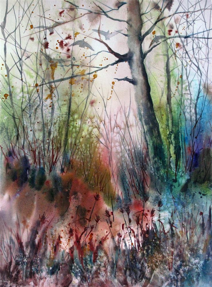 """In Between Fall & Spring"" original fine art by Melissa Gannon"