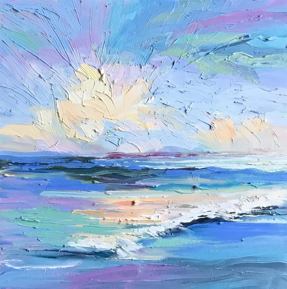 """Waves"" original fine art by Charlotte Fitzgerald"