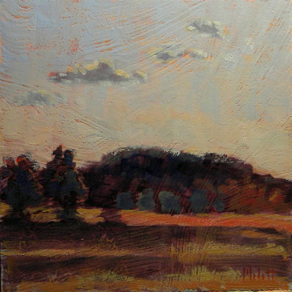 """Autumn Impressionism Sunset Landscape Oil Painting Art"" original fine art by Heidi Malott"