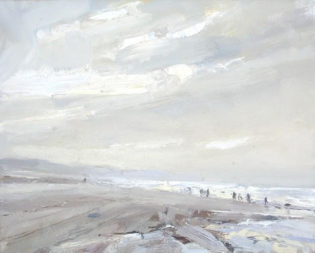 """Seascape winter #23"" original fine art by Roos Schuring"