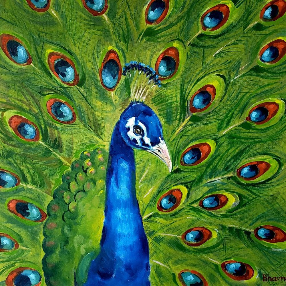 """""""Royal Blue"""" original fine art by Bhavna Misra"""