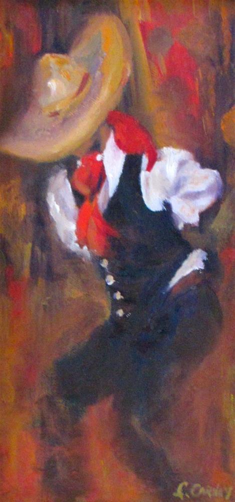 """""""Dancing in Isles Mujeras"""" original fine art by Linda Carney"""