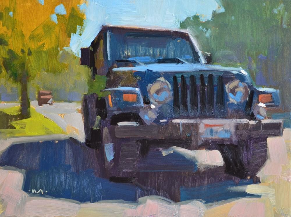 """Jeep Street"" original fine art by Carol Marine"