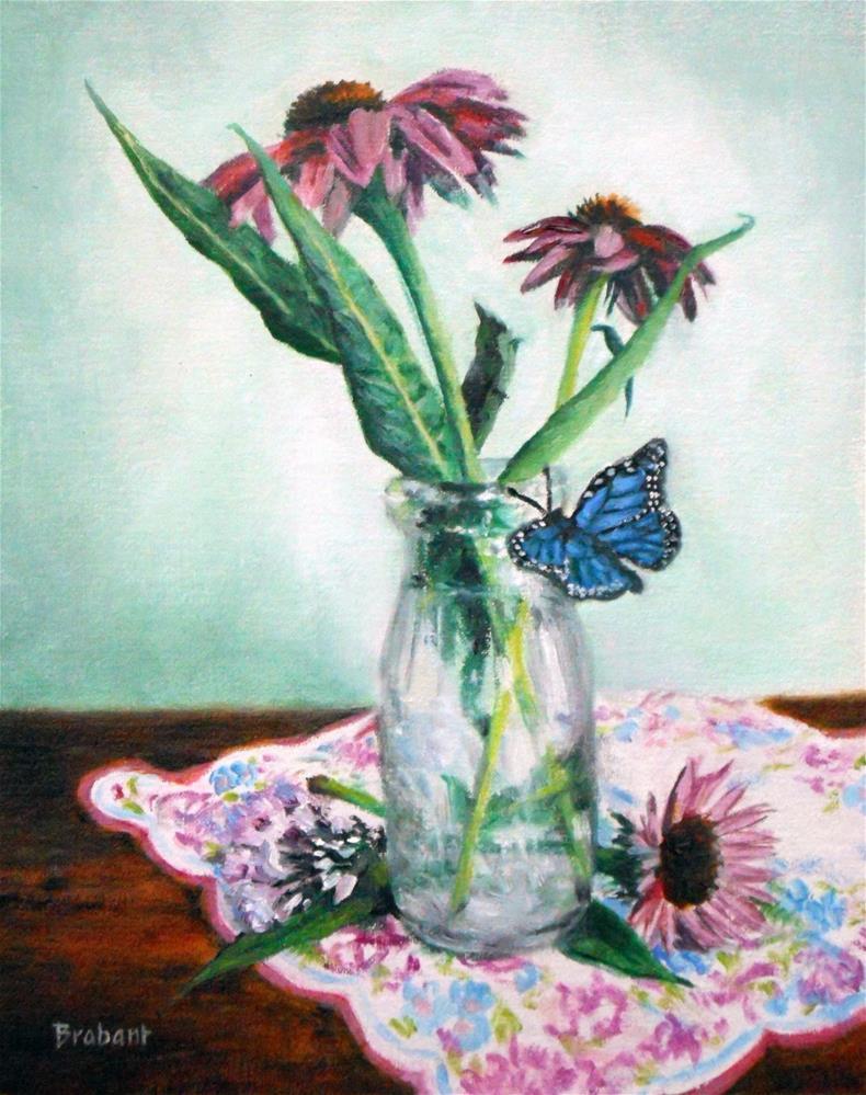 """""""Purple Coneflower"""" original fine art by Jill Brabant"""